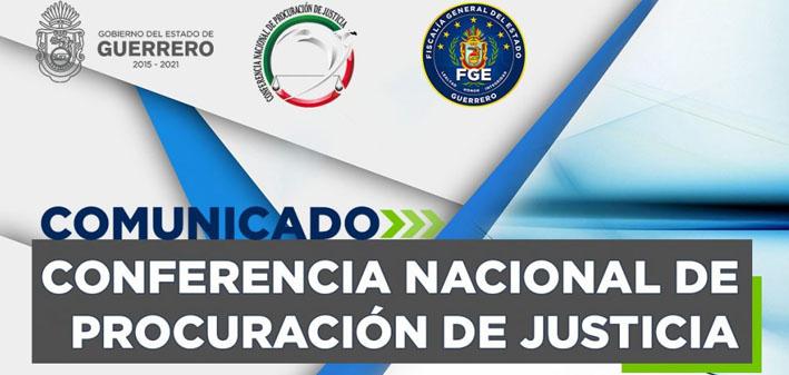 Guerrero es sede de la XXXIX Conferencia Nacional de Procuración de Justicia