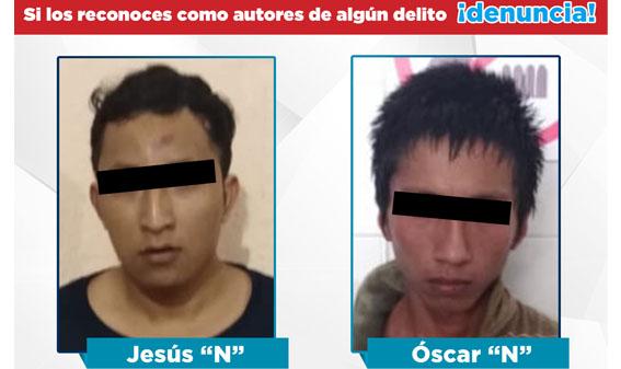 FGE informa detención de dos imputados por el delito de Homicidio Calificado en contra de una fémina en Acapulco.